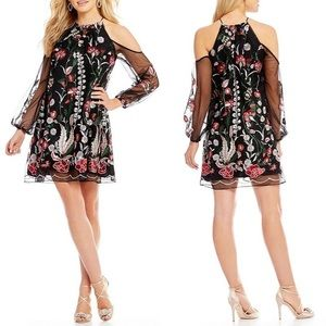 Belle Badgley Mischka Embroidered Shauna Dress